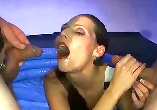 blonde wench swallows sexy pee