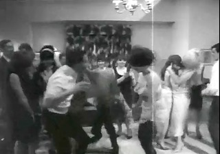 retro disrobe party