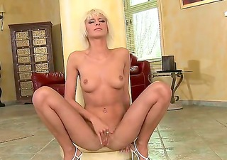 superb blond playgirl white beauty is slutty and