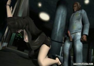 animated girl taking old black dick