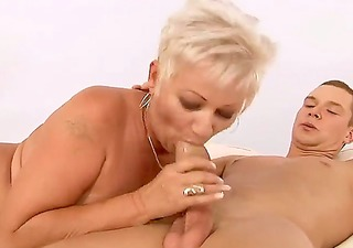 short haired aged blonde with large boobs cecily