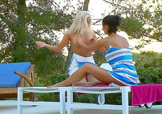 sexy legal age teenager pair of lesbos adria and