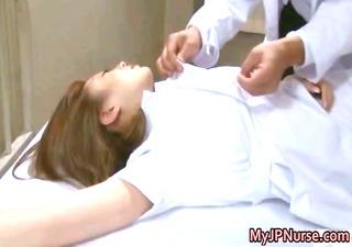 oriental nurse has sex in the hospital