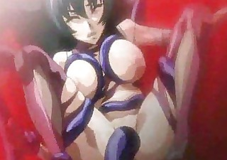 breasty oriental hentai porn features lots of