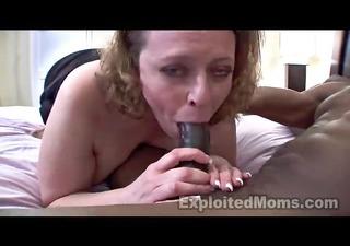 busty mom in amateur interracial movie scene